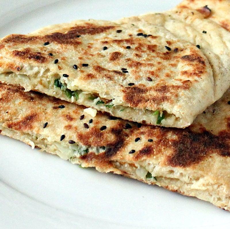 Vegan Naan Recipe Plain Avocado Garlic Stuffed