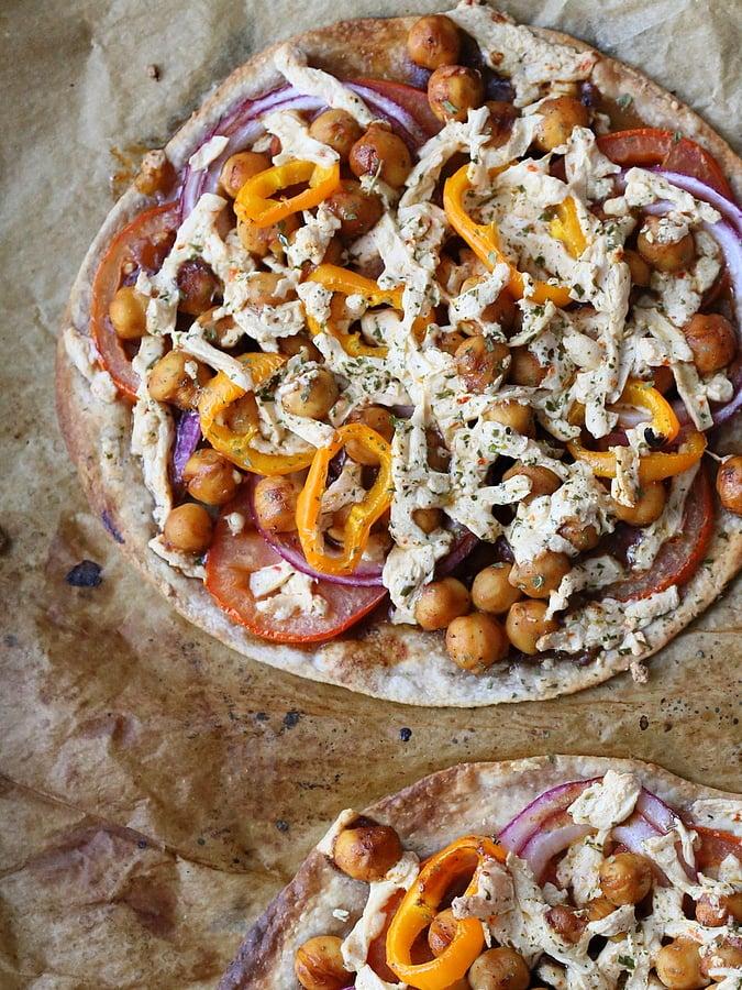 BBQ Chickpea individual Pizza