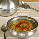 Whole Mung Bean, Split Bengal Gram, Split Pea Stew. Tirangi Dal. Vegan Glutenfree