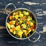 Adraki Gobi Gajar Mattar – Cauliflower Carrots and Peas saute with Cumin seeds and Ginger. Vegan Glutenfree Recipe