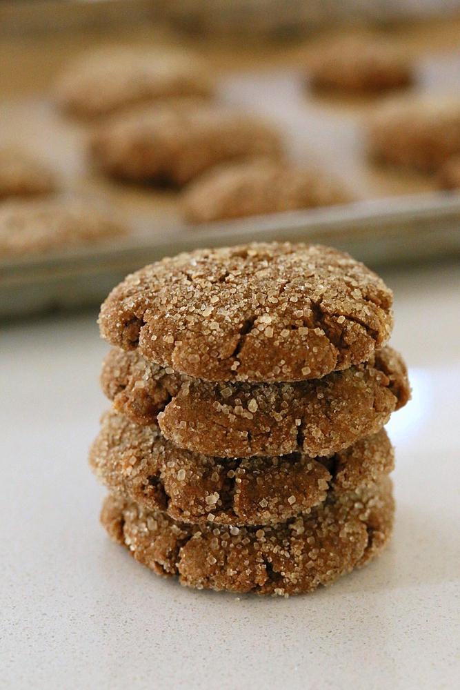 Vegan Triple Ginger Molasses Cookies