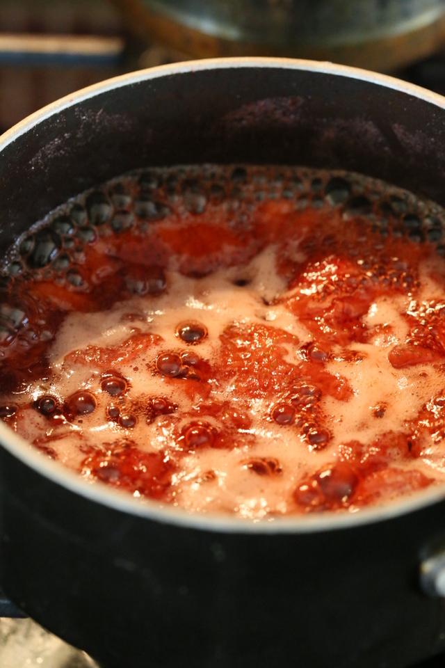 Chunky Strawberry Ice Cream. Vegan Strawberry Ice Cream with coconut milk. Dairy-free   https://VeganRicha.com #icecream #vegan