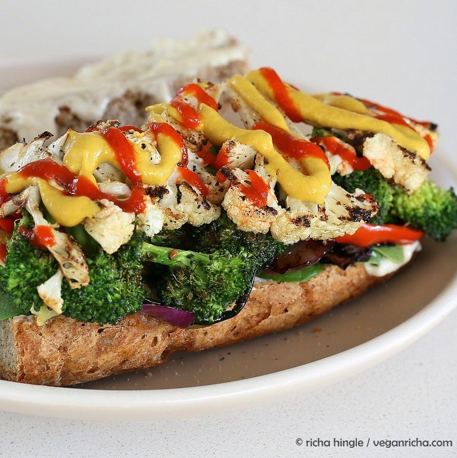 Grilled Veggie Sandwich #vegan #veganricha