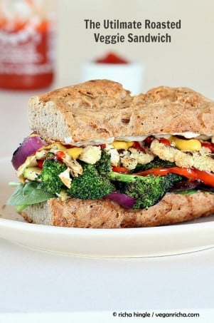 The Ultimate Veggie Sandwich. Vegan Recipe