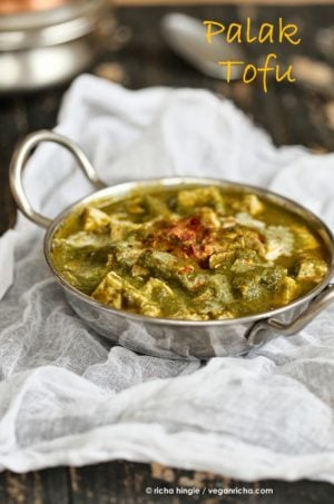 This Vegan Palak Tofu Paneer is the easiest. dairy-free, gluten-free. Vegan Saag Paneer Tofu. Can be made soy-free w/ chickpea tofu, veggies or cooked chickpeas.
