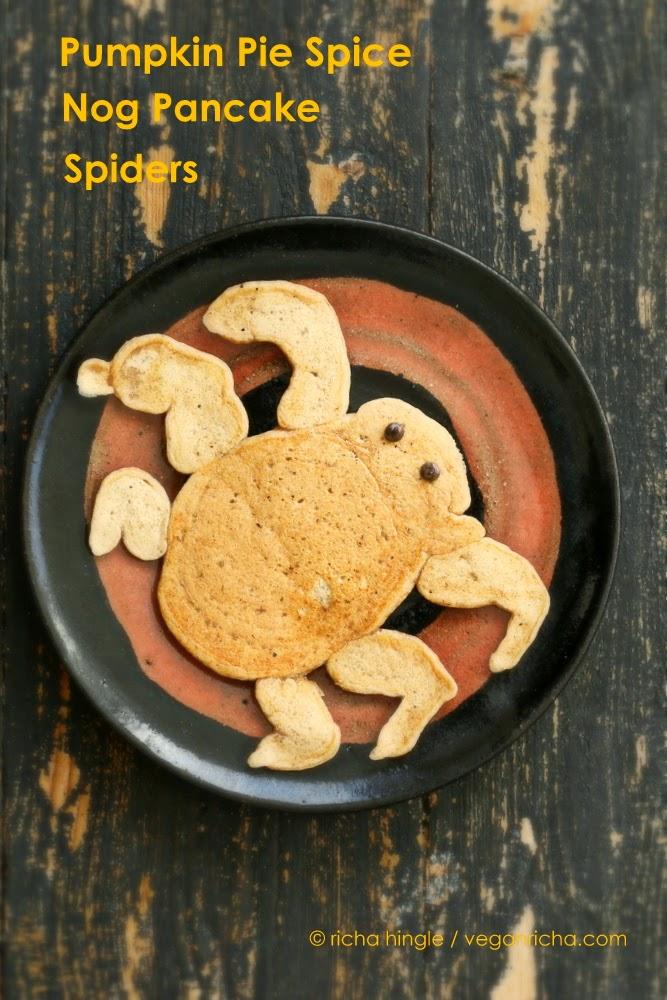 Pumpkin Pie Spice Nog Pancake Spiders
