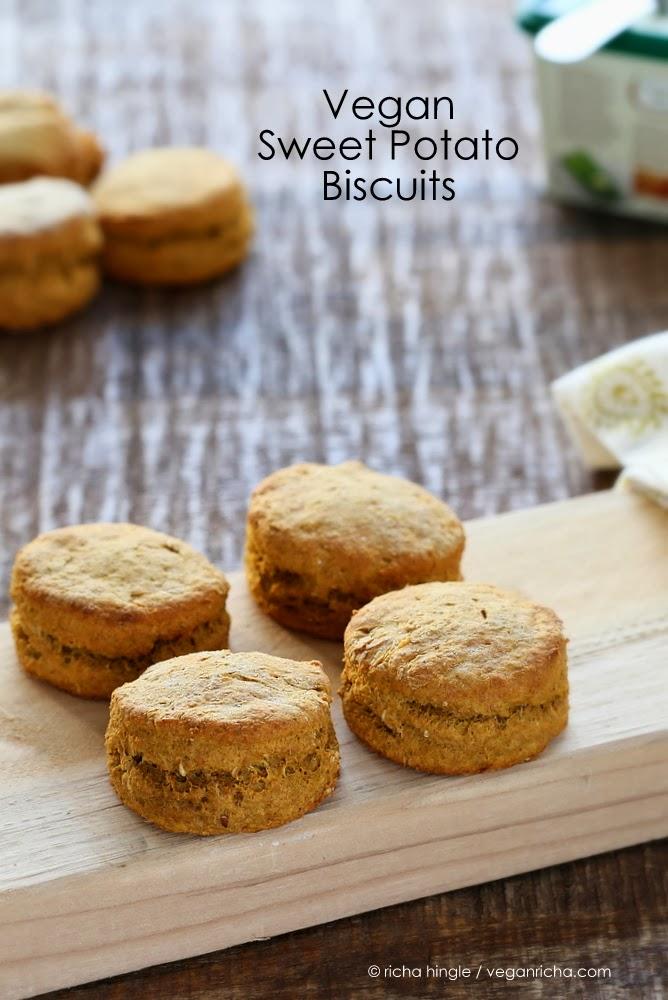 Vegan Spelt Sweet Potato Biscuits