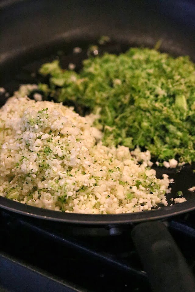 This Cauliflower Broccoli Pie is full of flavor from the garam masala and has a delicious Potato black eyed pea crust.   VeganRicha.com #vegan #glutenfree and #grainfree