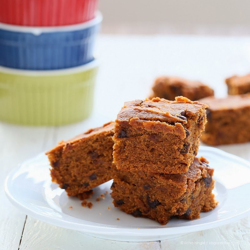 Gluten free Sweet Potato Blondies | Vegan Richa