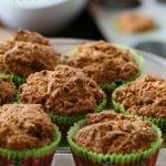 Easy Pumpkin Coconut Breakfast Muffins. Moist Pumpkin Muffins with coconut and pumpkin pie spice. Vegan Recipe