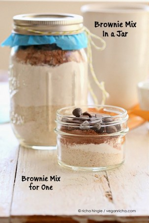 Vegan Brownie Mix in a Jar. Single Serve Brownie too. Vegan Recipe