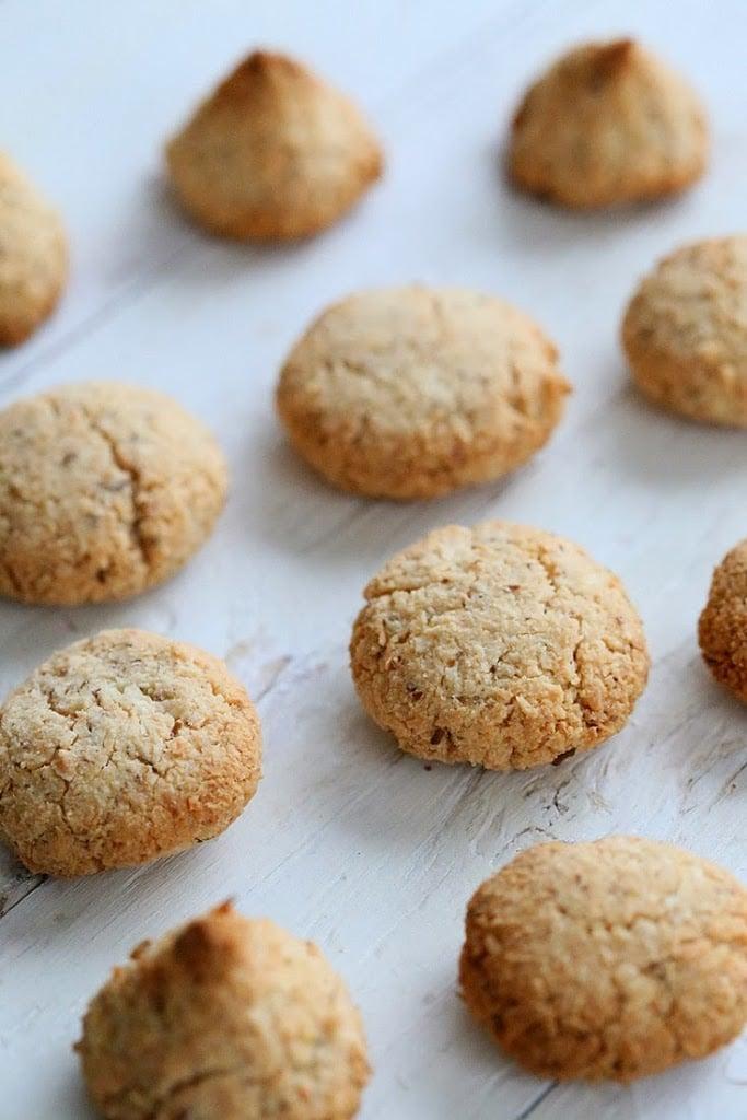 oven-fresh glutenfree vegan coconut macaroons on a baking sheet