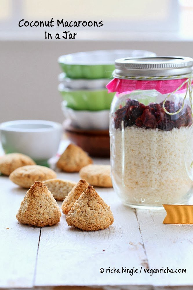gluten-free coconut macaroons mix in mason jars