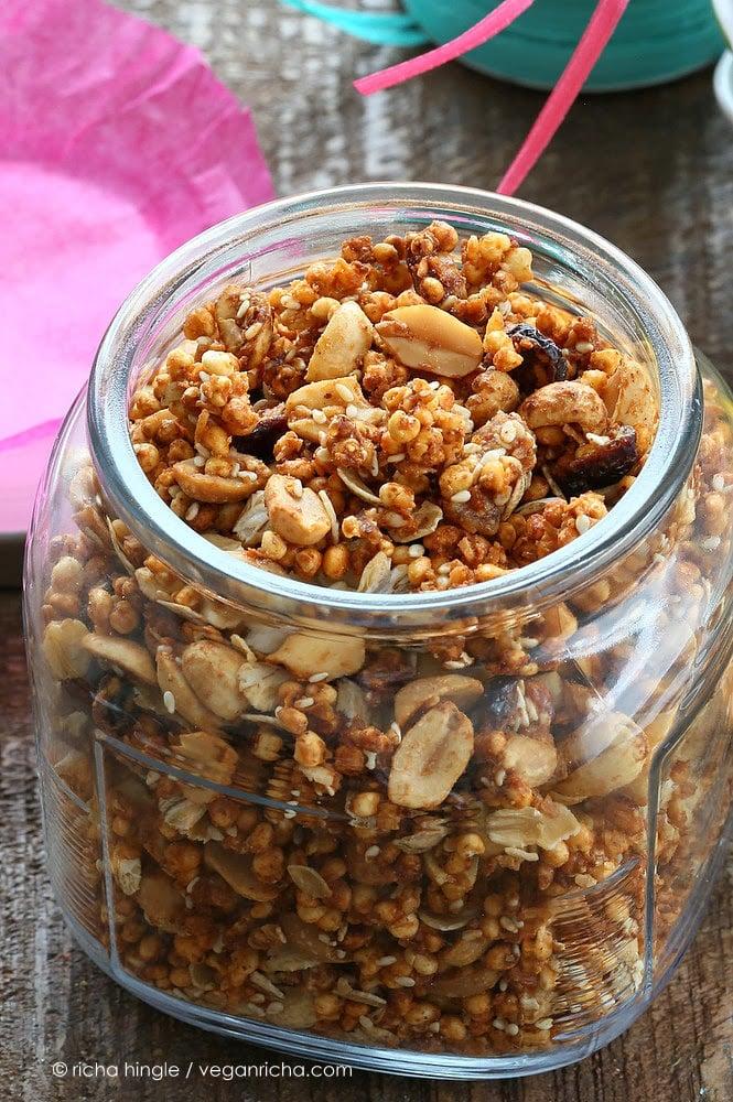 Puffed Millet Quinoa Granola | Vegan Richa