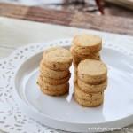 gluten-fre vegan sugar cookies stacked on a cookie Platter