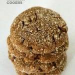 Triple Ginger Molasses Soft Cookies. 100% Spelt. Vegan Recipe