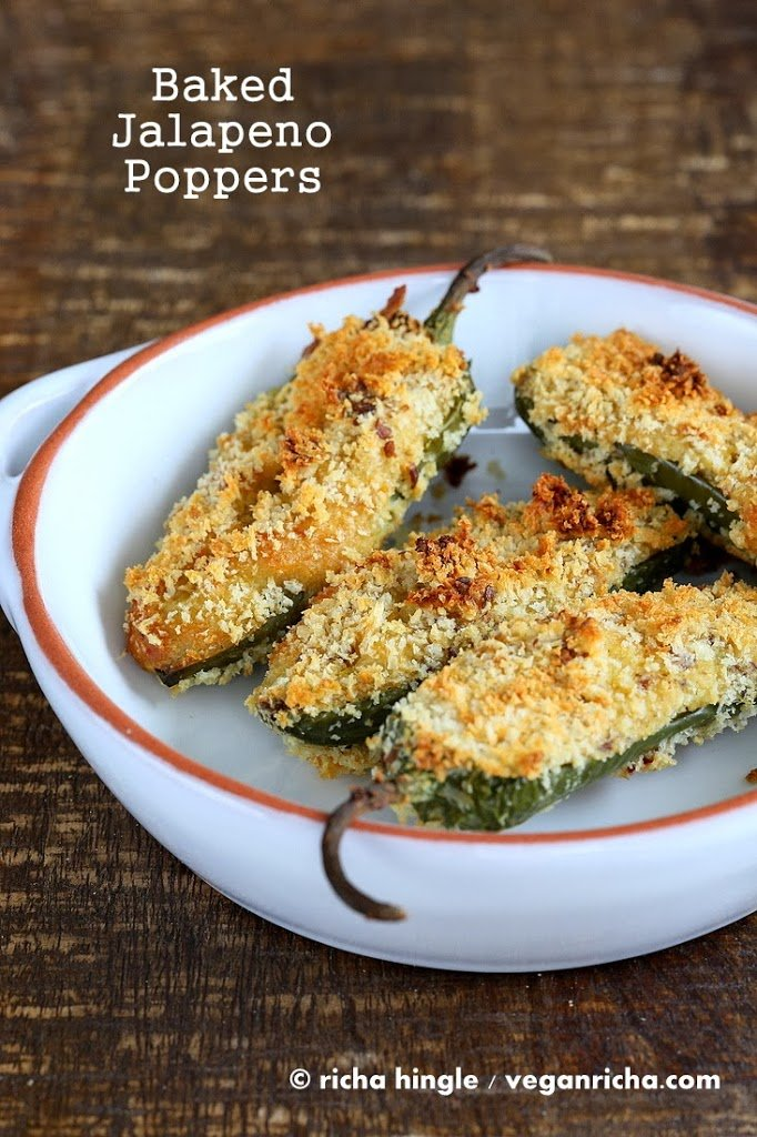 Vegan Baked Jalapeno Poppers ! Vegan Richa