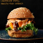 Roasted Butternut Squash Slider with Balsamic Caramelized onions, Sriracha Mayo. Vegan Sandwich Recipe