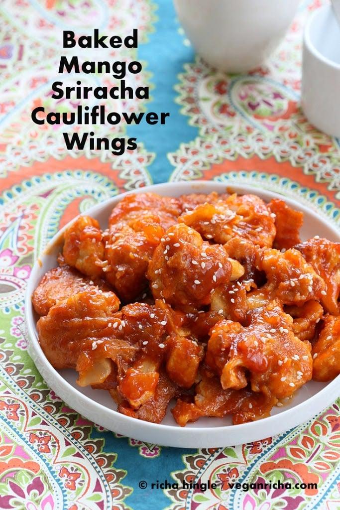 Baked Mango Sriracha Cauliflower Wings And 16 Vegan
