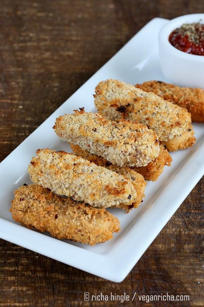 Vegan Mozzarella Sticks | Vegan Richa