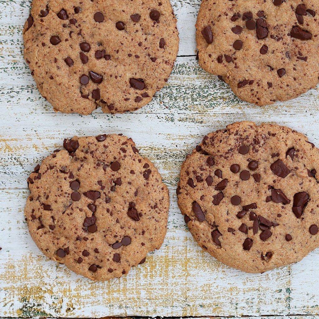 Giant Vegan Chocolate Chip Cookies   Vegan Richa