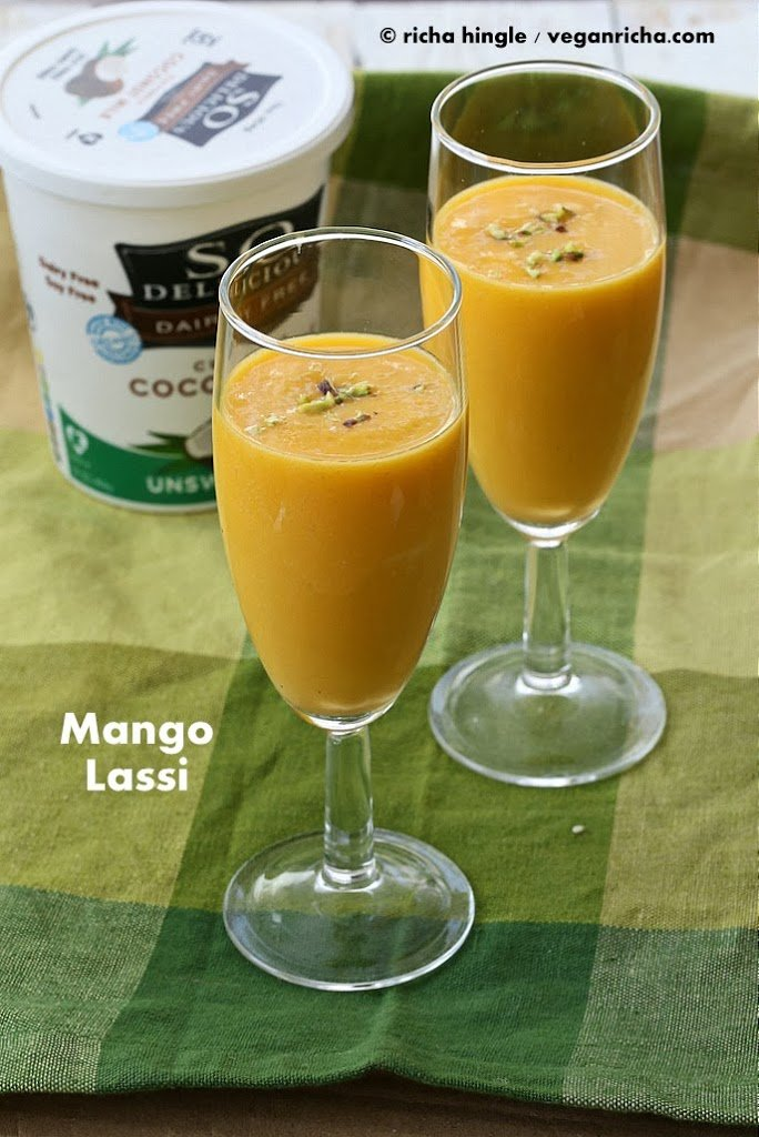 Vegan Mango Lassi - Mango Yogurt Smoothie