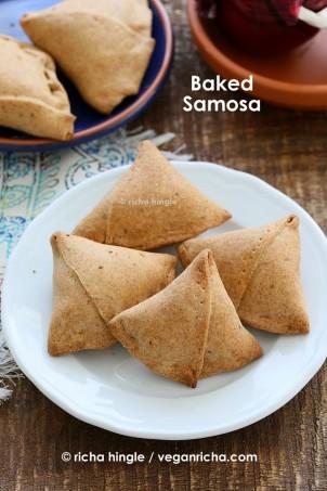 Baked Moong Dal Samosas and 12 Vegan Holi Recipes. Glutenfree Soyfree Options