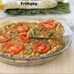 Soy-free Broccolini White Bean Frittata. Glutenfree Vegan Recipe