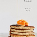 Gluten-free Orange Yogurt Pancakes and Multigrain Pancake Mix. Vegan Gum-free Recipe