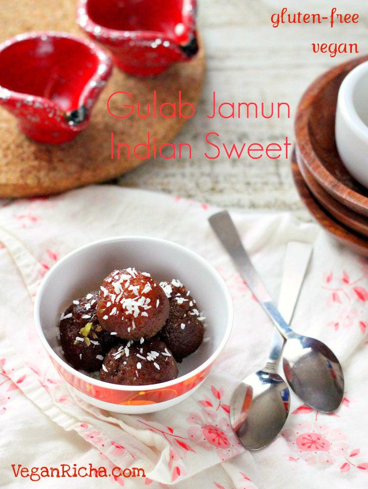 Vegan Gulab Jamuns - Dairy-free Recipe | Vegan Richa