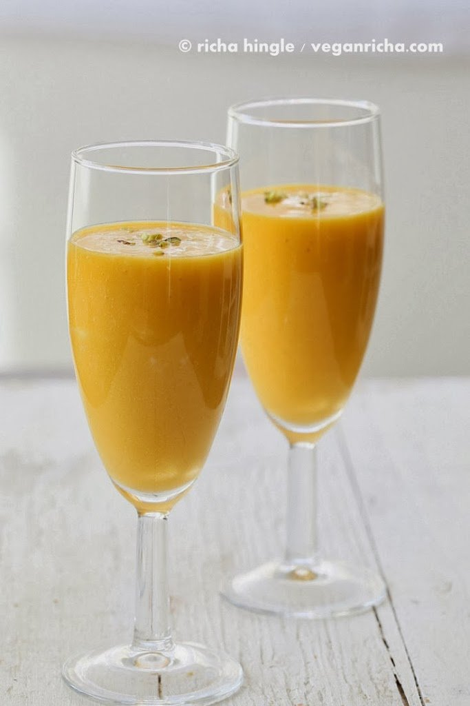vegan mango lassi – mango yogurt smoothie