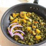 Green beans and potatoes (Barbati Aloo subzi). Mom's recipe. and TG ideas. Vegan, glutenfree