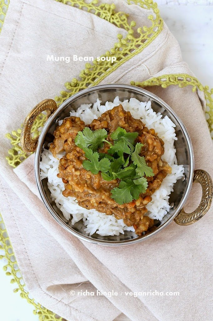 Sprouted Mung Bean Dal | Vegan Richa