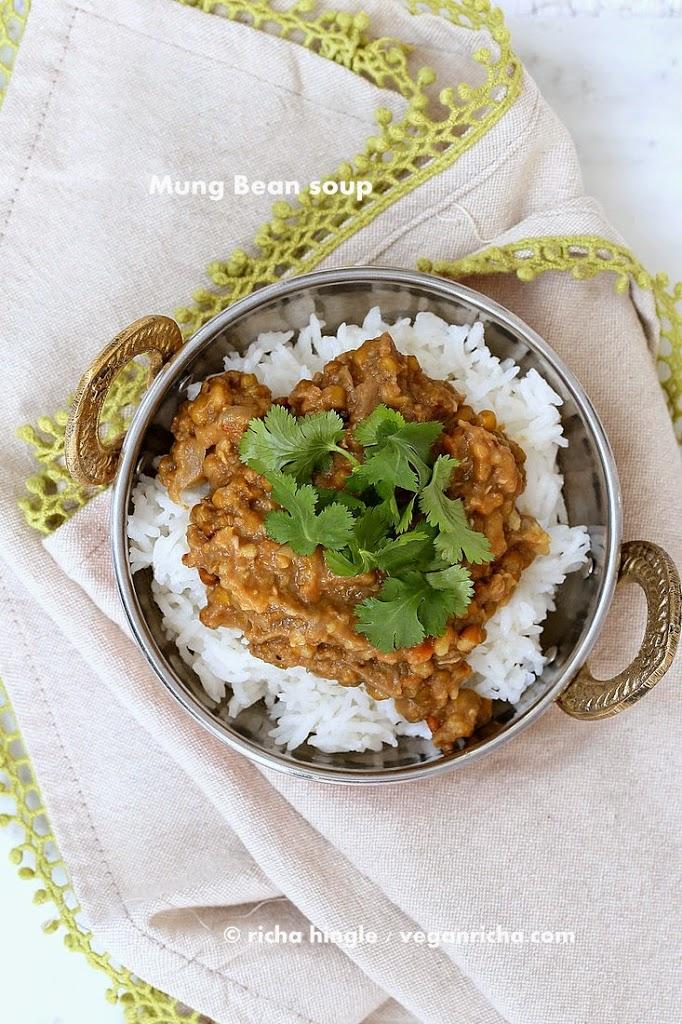 Sprouted Mung Bean Dal | Vegan Richa