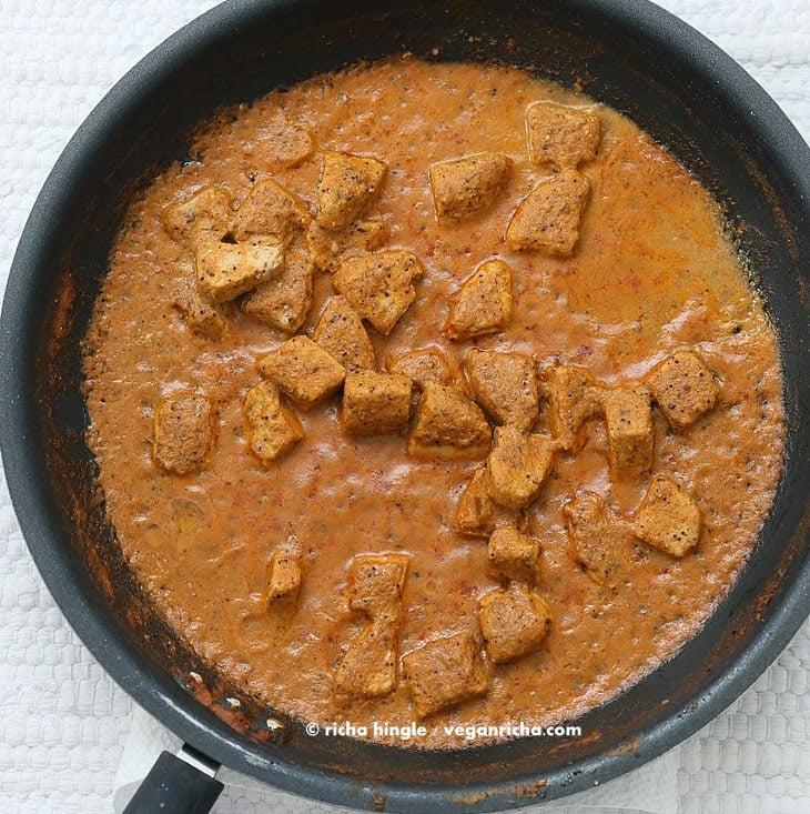 Hemp-Tofu in Rich Creamy Pasanda sauce. Vegan Paneer Pasanda. Gluten-free Soy-free Recipe | Vegan Richa