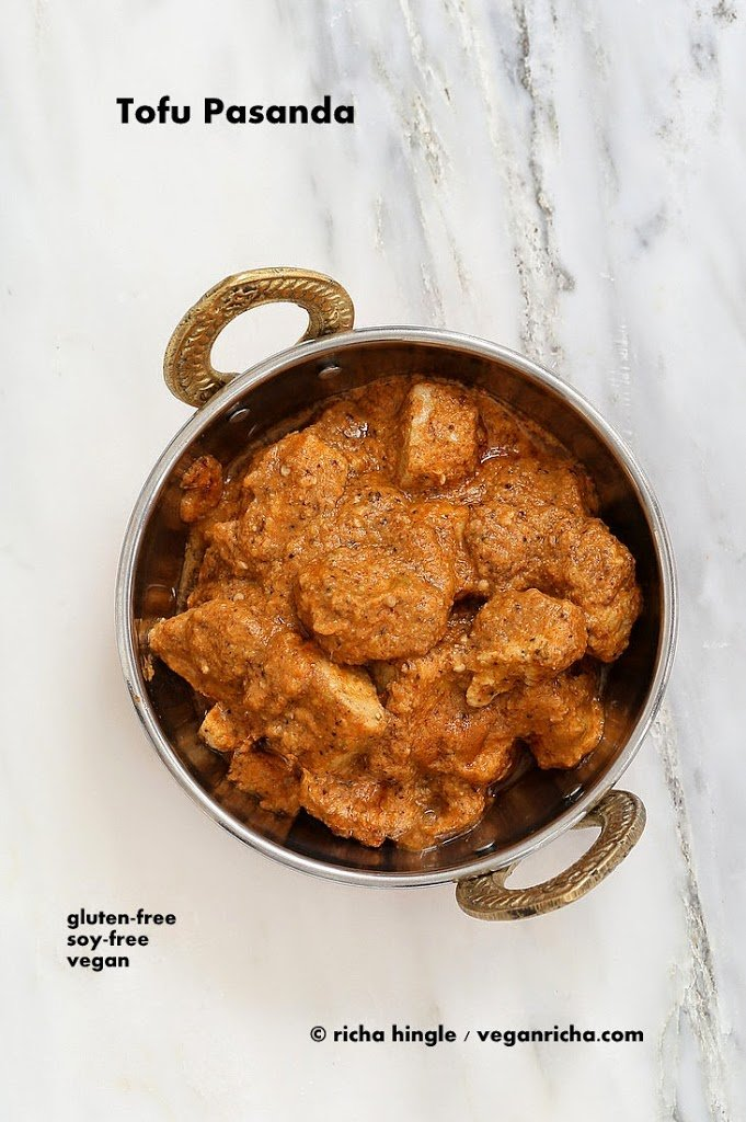 Hemp-Tofu in Rich Creamy Pasanda sauce. Vegan Paneer Pasanda. Glutenfree Soyfree Recipe | Vegan Richa