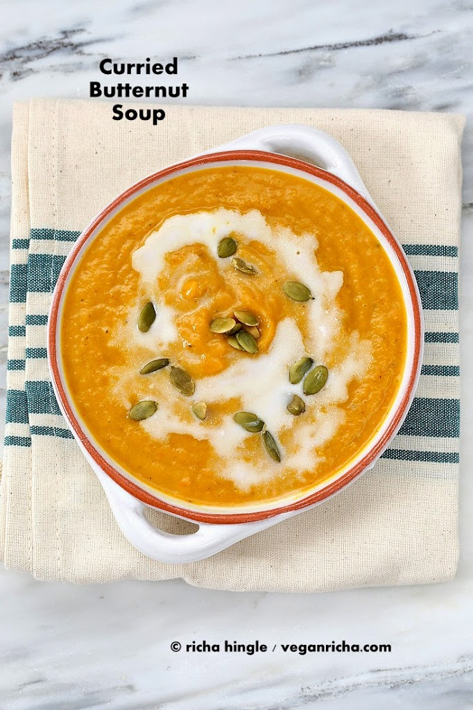 Vegan Curried Butternut Squash Soup