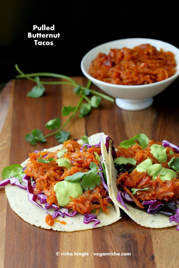 Vegan Shredded Butternut Squash Tacos