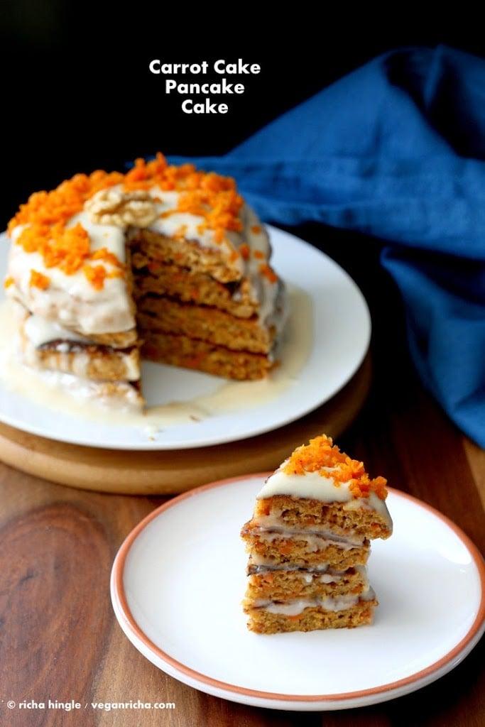 Flourless Eggless Carrot Cake