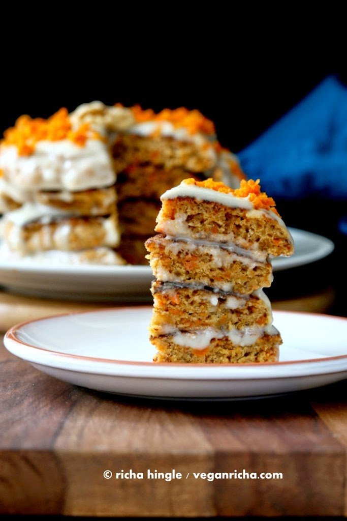 Vegan Carrot Cake Pancakes With Yogurt Coconut Cream