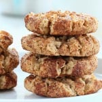 Vegan Almond Butter Snickerdoodles. Palm oil free Recipe