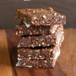 Easy Super Seed chocolate Protein Bars. Vegan gluten-free Recipe #vegan #glutenfree #veganricha