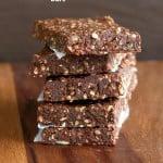 Easy Super Seed chocolate Protein Bars. Vegan gluten-free Recipe #vegan #glutenfree #veganricha