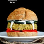 Artichoke Spinach Cauliflower Bean Burgers. Grill-able Vegan Veggie Burger Recipe.