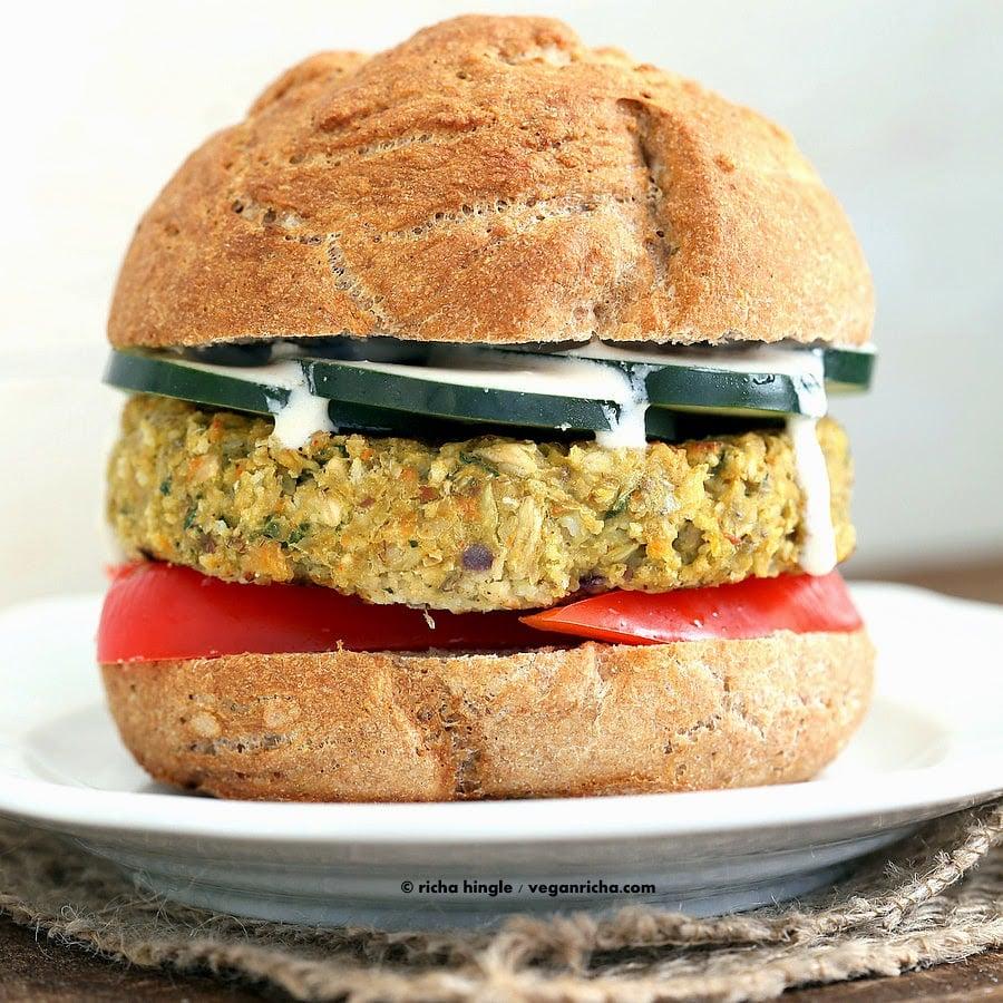 Artichoke Spinach Burger | Vegan Richa