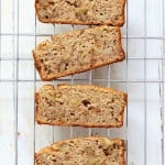 Banana Walnut Breakfast Loaf. Gluten-free Vegan Gum-free Recipe