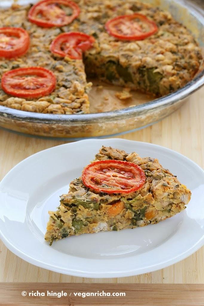 Soy-free Broccolini White Bean Frittata. Glutenfree Vegan Recipe ...