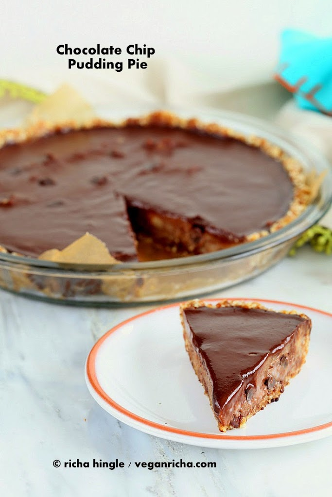 Chip Pudding Pie with Chocolate Ganache and Almond Date Crust ...