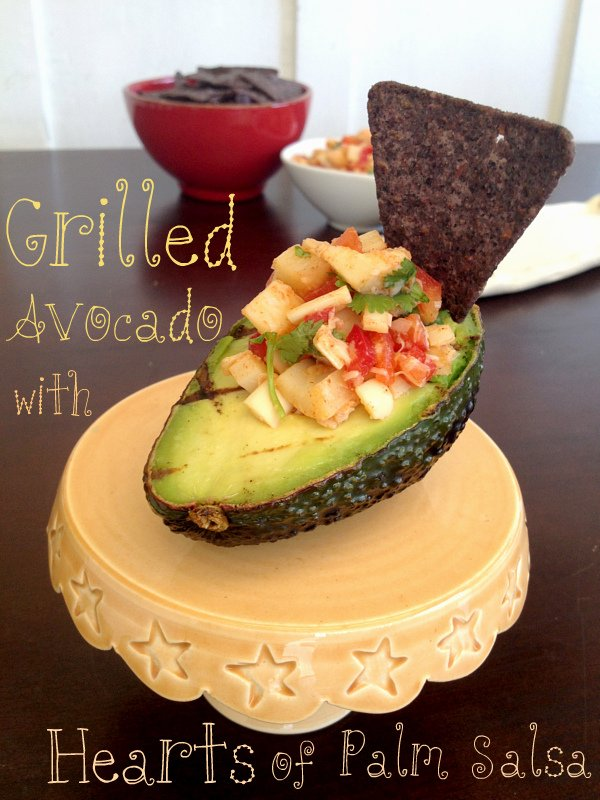Grilled avocado with hearts of palm salsa - 5