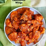 Baked Mango Sriracha Cauliflower Wings and 16 Vegan Superbowl Recipes!